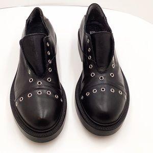 {Piampiani} Leather & Silver Studs No lace Oxford